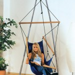 Luna Hammock Chair Stand with Byer of Maine hammock chair