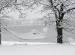 Rope hammock in the snow