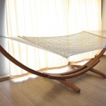 Caribbean wooden hammock stand