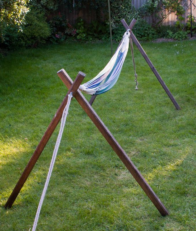 hammock no trees a wooden hammock stand for your hammock   the hammock gazette  rh   thehammockgazette