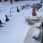 snow covereed patio